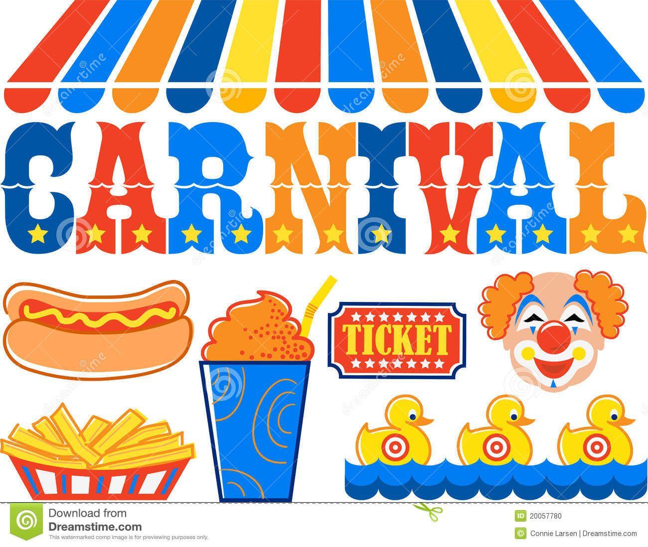 Carnival clipart carnival games. Headline illustration of the