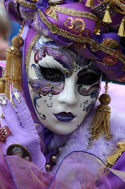 Lady in purple with. Carnival clipart carnivale