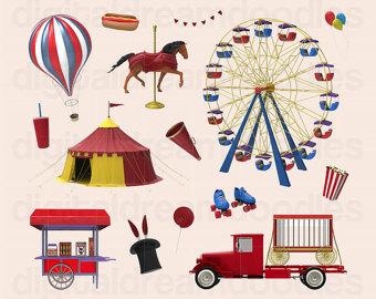 Carnival clipart carnivale. Etsy studio circus clip