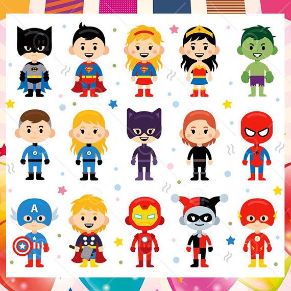 Carnival clipart cartoon.  superhero children characters