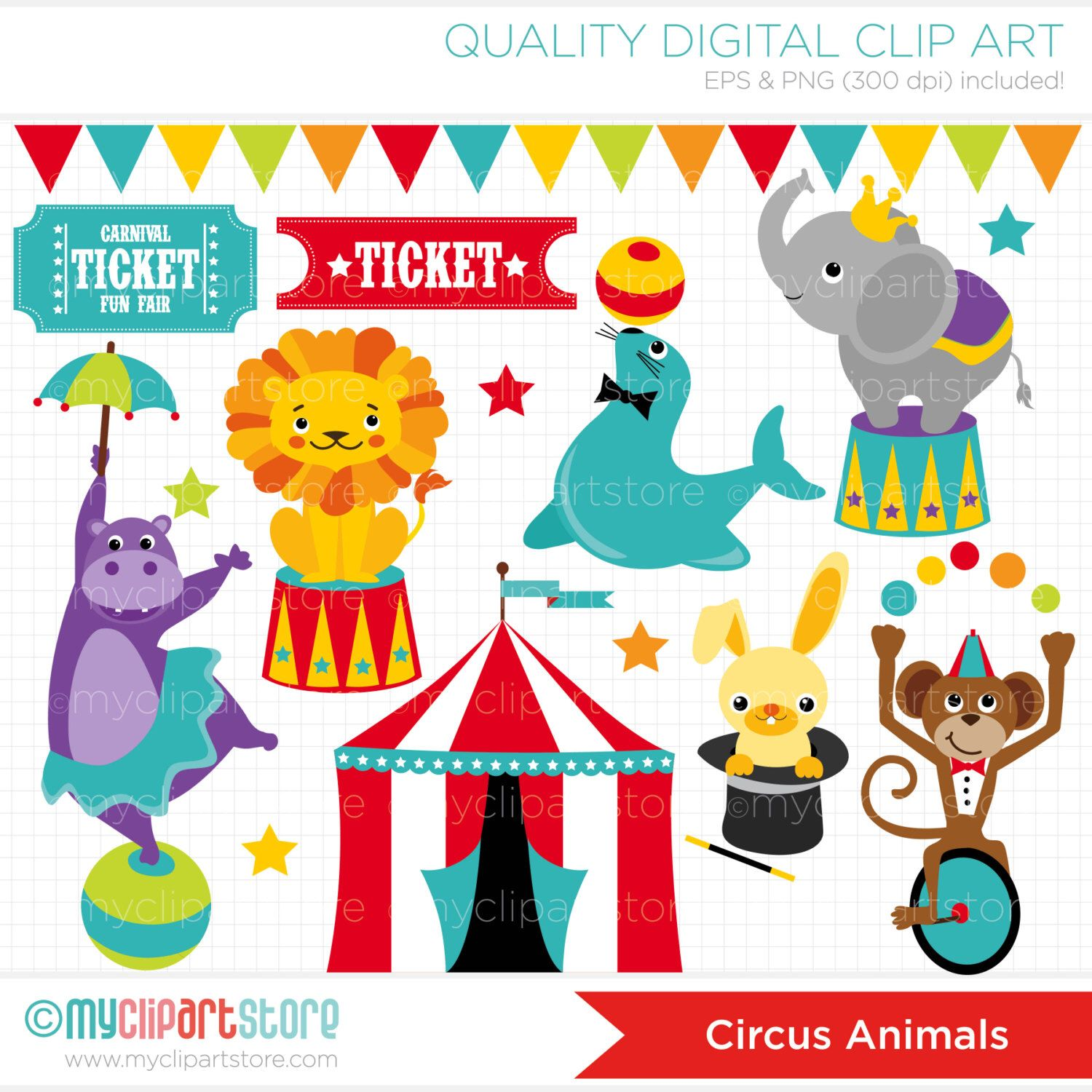 Carnival clipart circus performer. Animals big top elephant