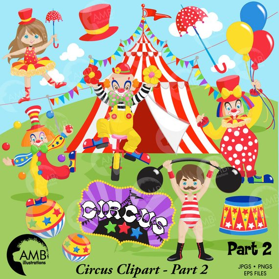 Pack clown clowns tightrope. Carnival clipart circus performer