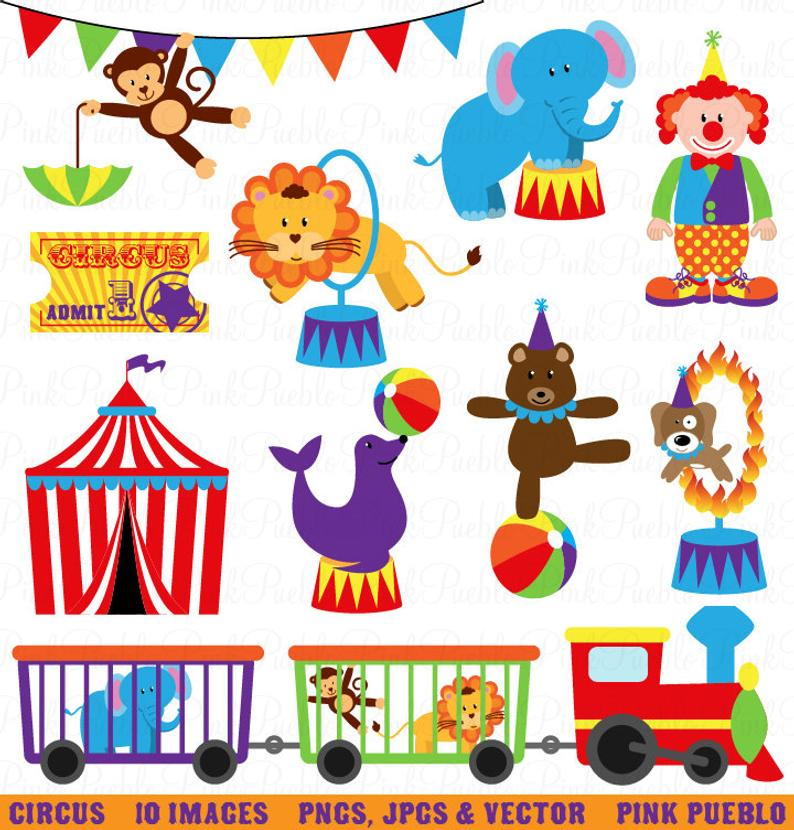 Carnival clipart clip art. Circus great for birthday