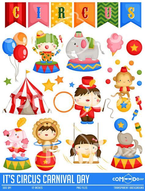 It s circus day. Carnival clipart cute