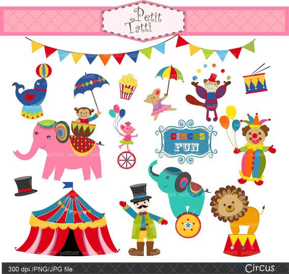 Circus clip art animal. Carnival clipart cute