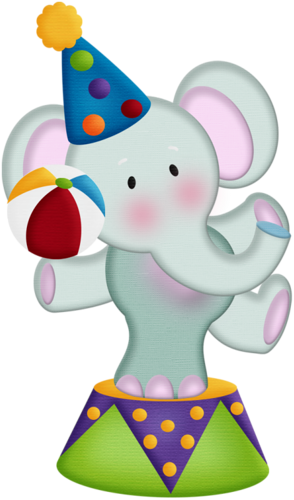 Carnival clipart elephant. Aw circus png party