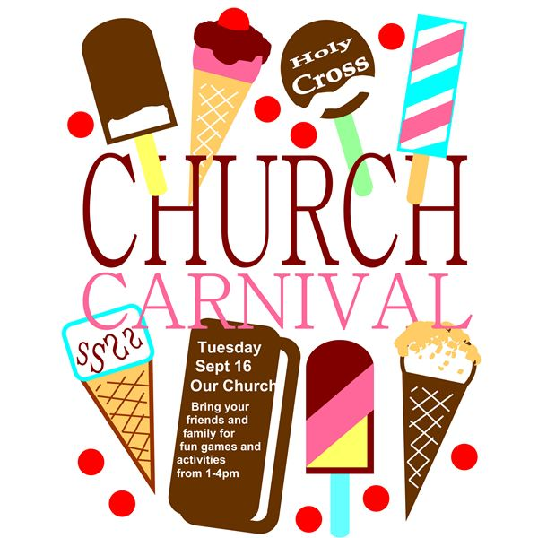 Carnival clipart event.  church flyer templates
