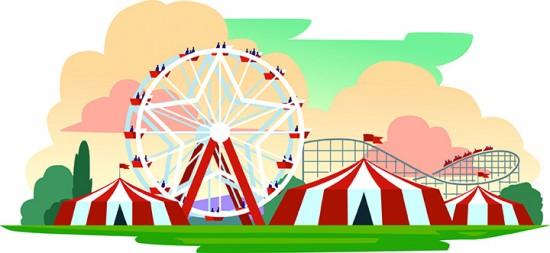 Fair clipart fairground. Dc lynch carnival at