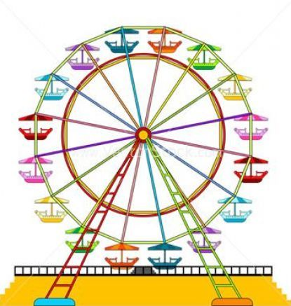 Clip art vector free. Carnival clipart ferris wheel