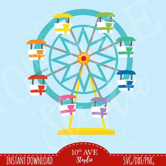 Carnival clipart ferris wheel. Circus multi layer color