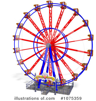 Carnival clipart ferris wheel. Illustration by ralf royaltyfree