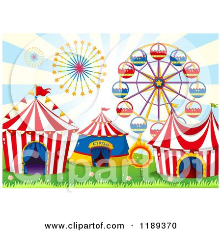 cartoon of cirucs. Carnival clipart ferris wheel