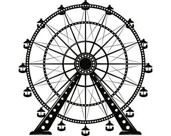 Carnival clipart ferris wheel. Svg etsy amusement park