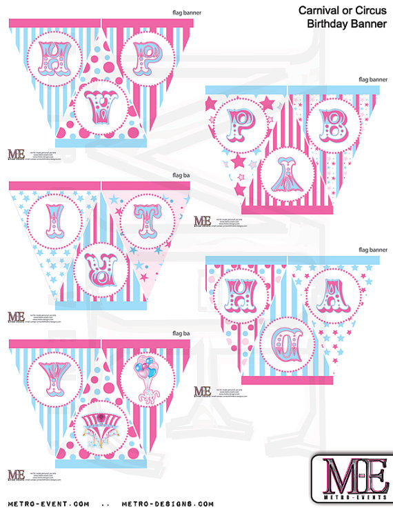 Carnival clipart flag banner. Birthday pink blue by