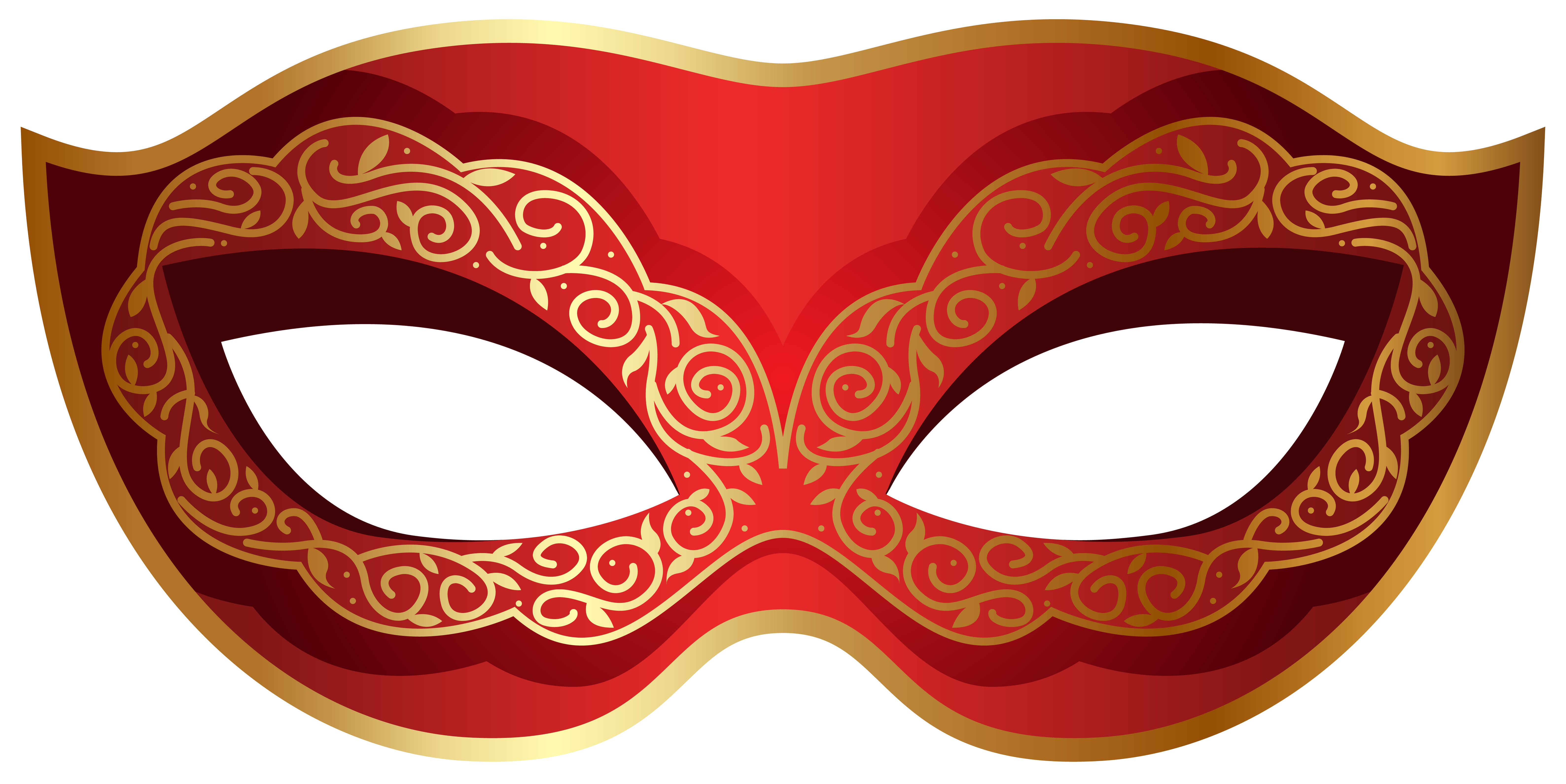 Carnival clipart halloween carnival. Red and gold mask