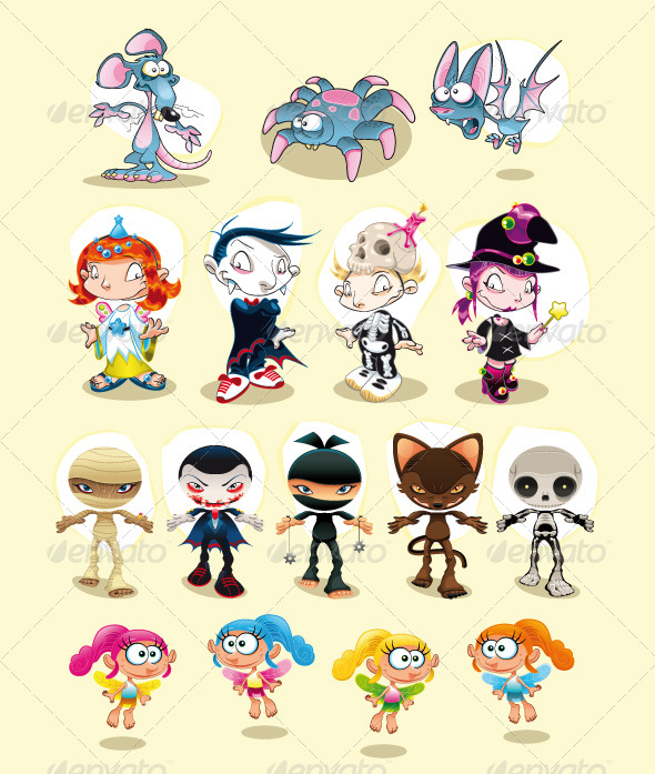 Carnival clipart halloween carnival. And characters by ddraw