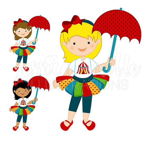 Fun time circus girl. Celebrate clipart cute