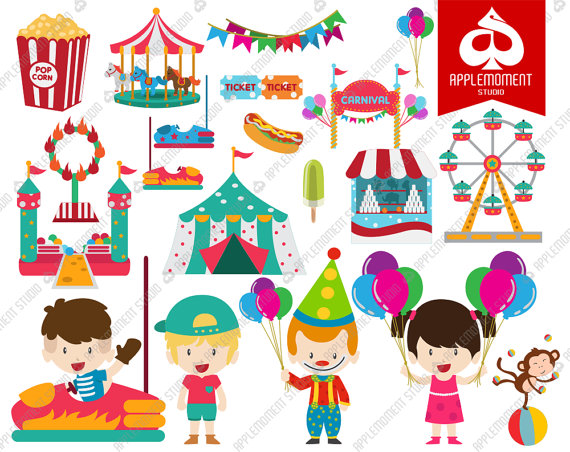 Digital for personal and. Carnival clipart kids carnival