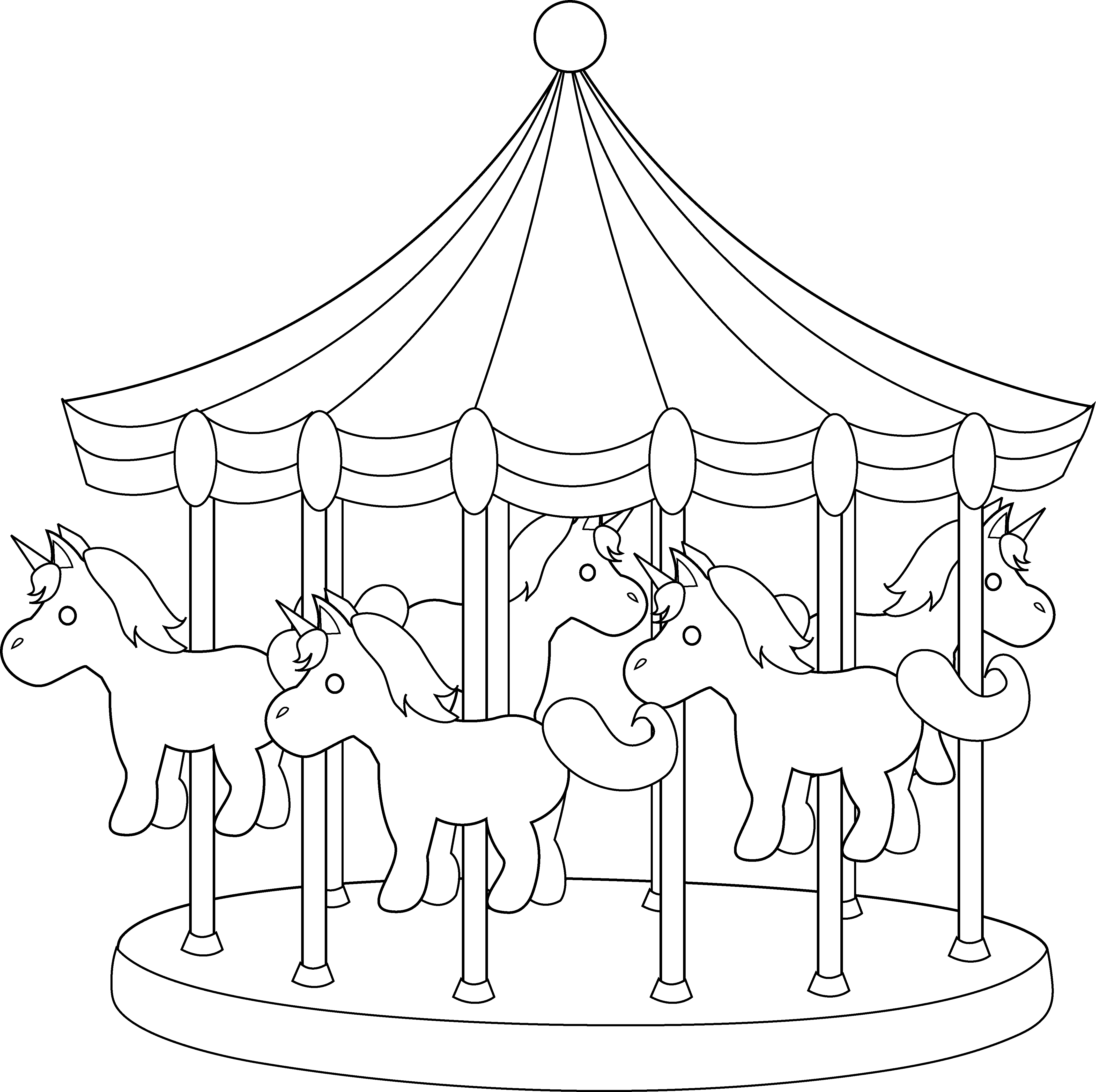 Carousel art free clip. Carnival clipart line