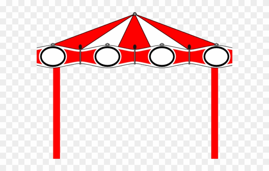 Carousel party border . Carnival clipart line