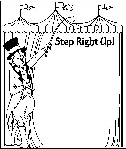 Carnival clipart line. Free printable circus clip