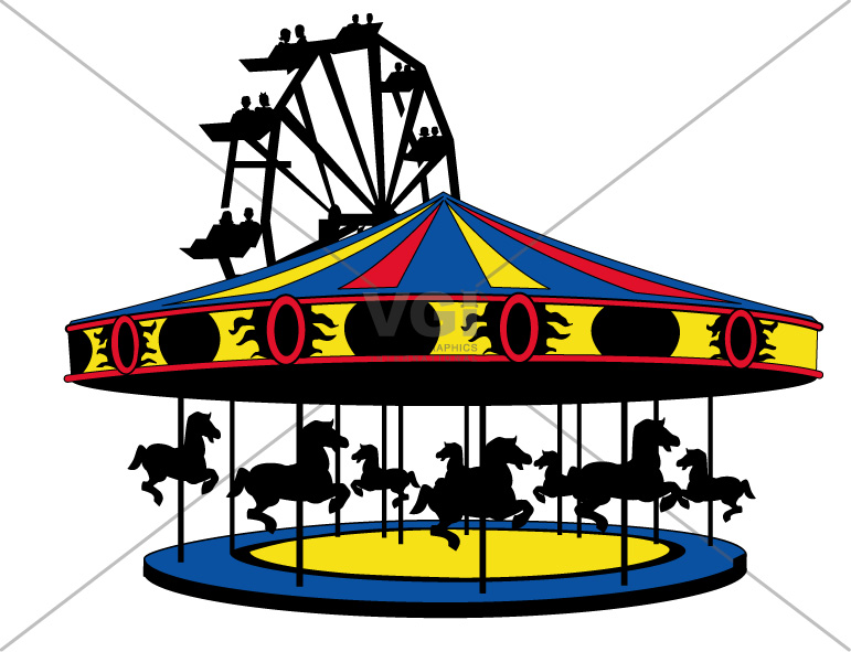 Carnival clipart merry go round. And panda free images