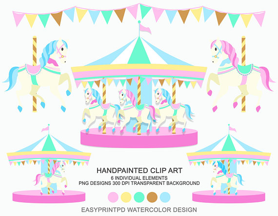 Carousel clip art personal. Carnival clipart merry go round