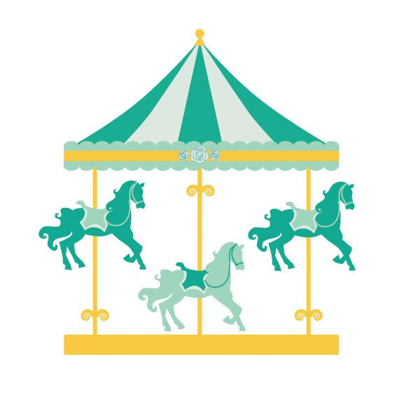 Image of carousel clip. Carnival clipart merry go round