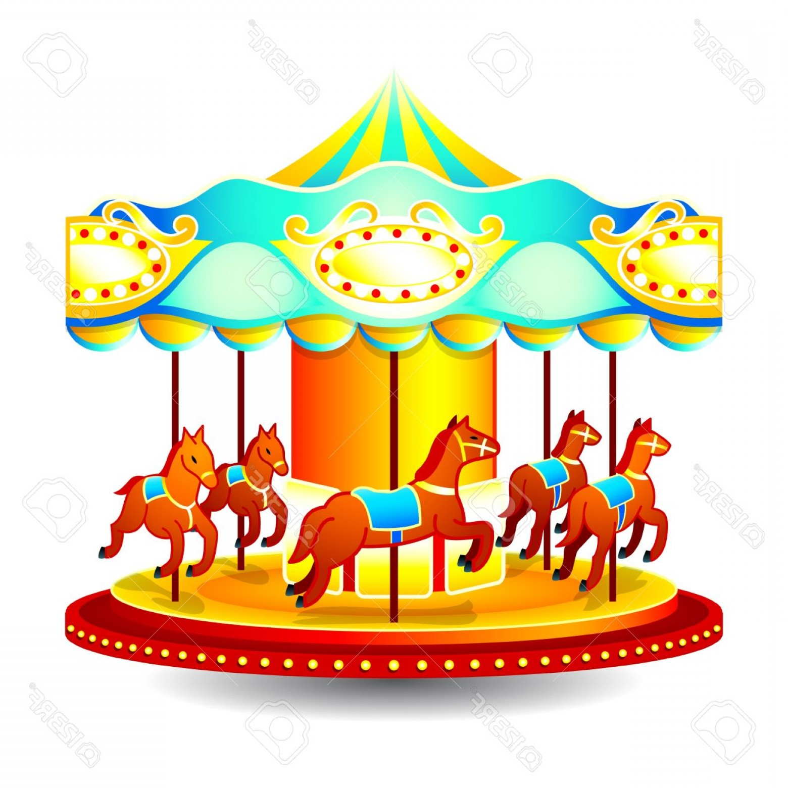 Fair clipart mary go round. Merry horse to color
