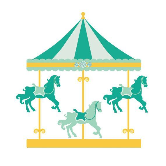 Clip art carousel . Carnival clipart merry go round