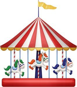 best thema pretpark. Carnival clipart merry go round