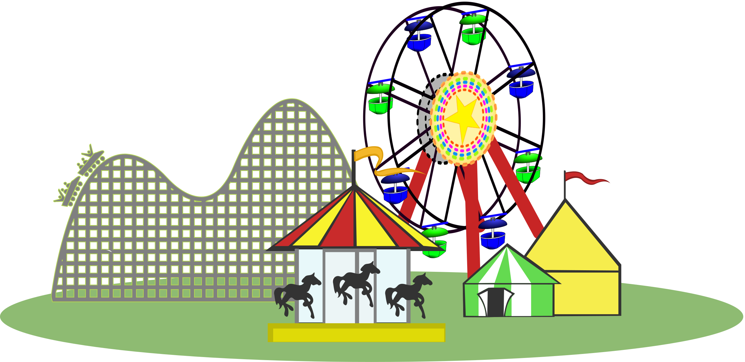 Remix of carnival color. Circus clipart fair