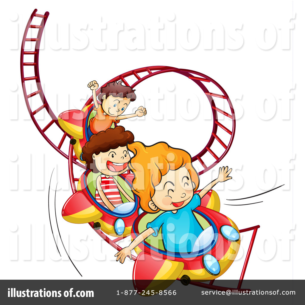 Carnival clipart roller coaster. Illustration by graphics rf