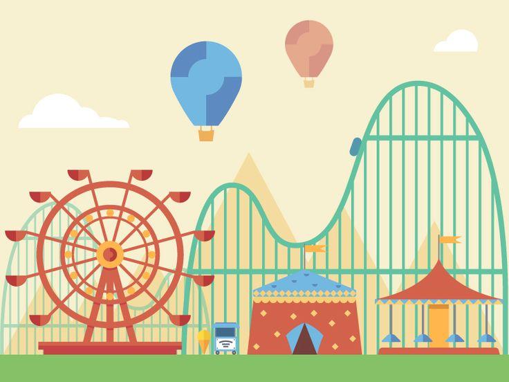 Carnival clipart roller coaster.  best amusement park