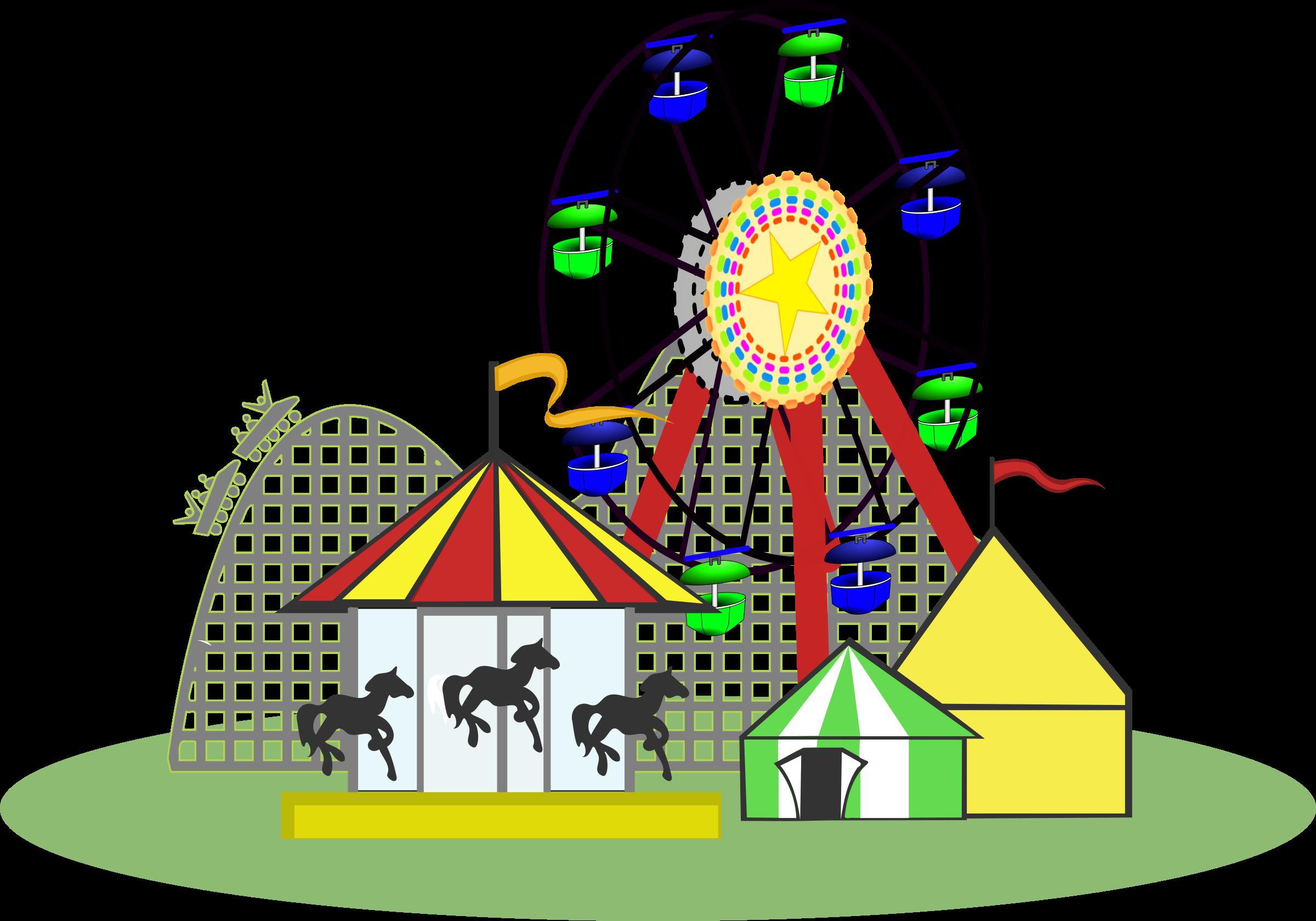 Fair clipart adventure park. Carnival color big image