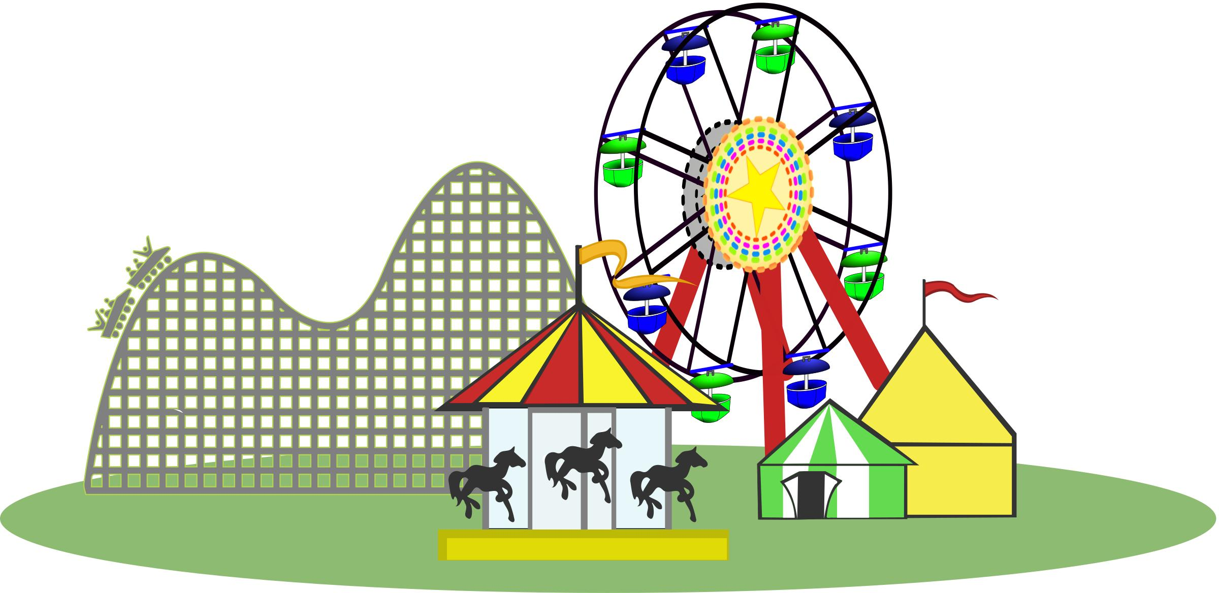 Carnival clipart roller coaster. Remix of color wide