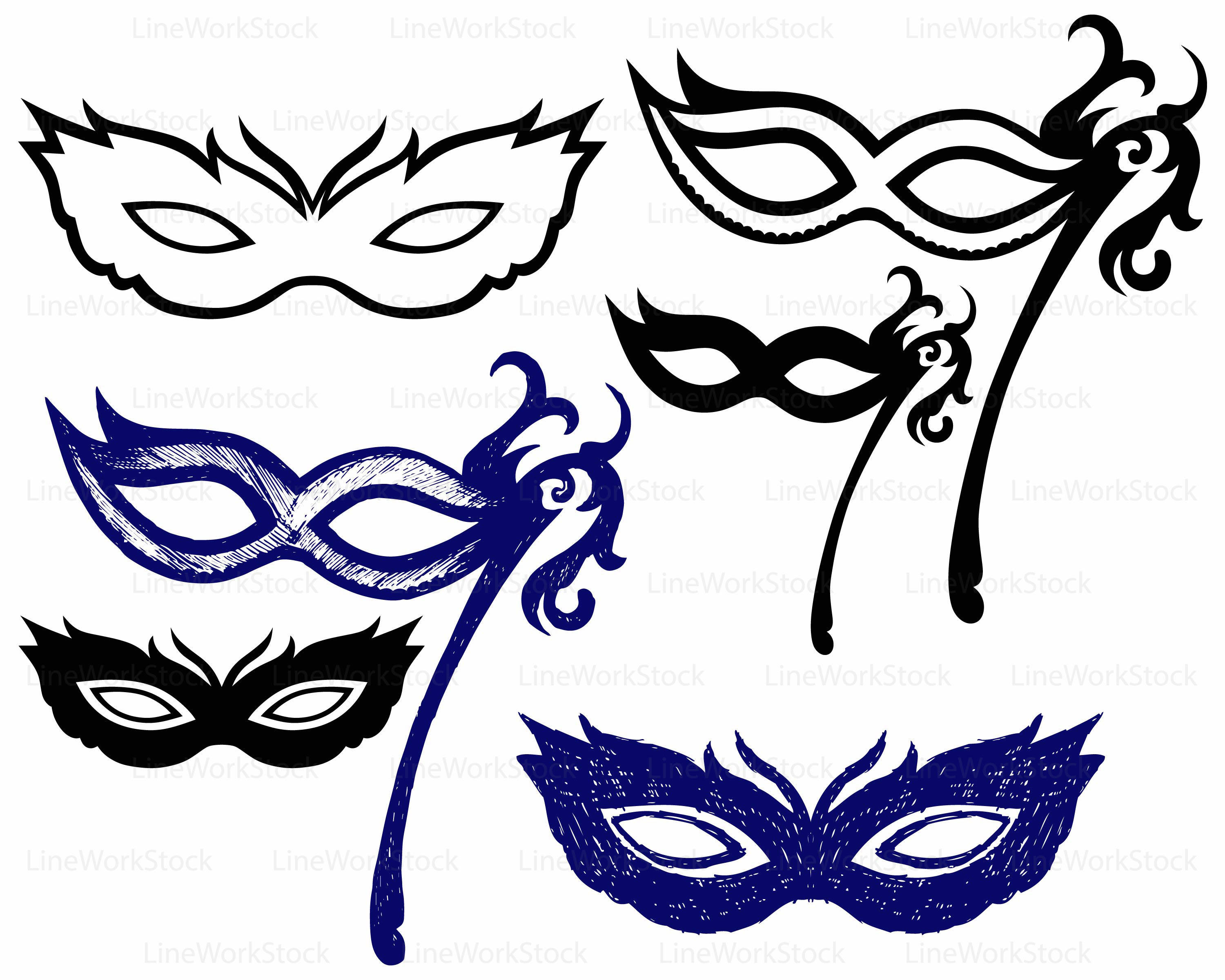 Carnival clipart silhouette. Masks svg this is