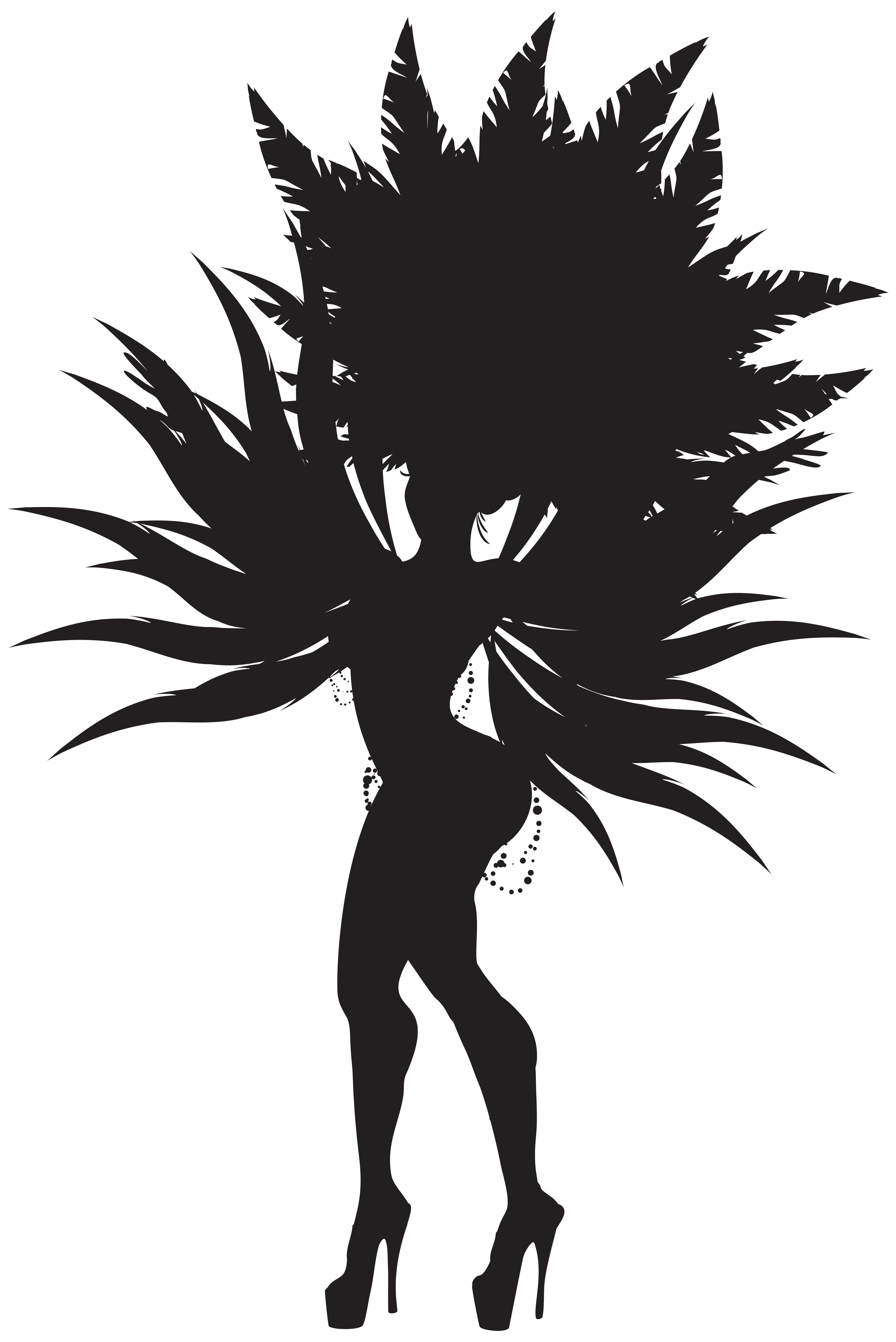Brazilian samba dancer png. Lake clipart silhouette