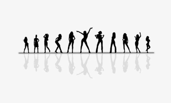 Carnival clipart silhouette. Crowd png image and