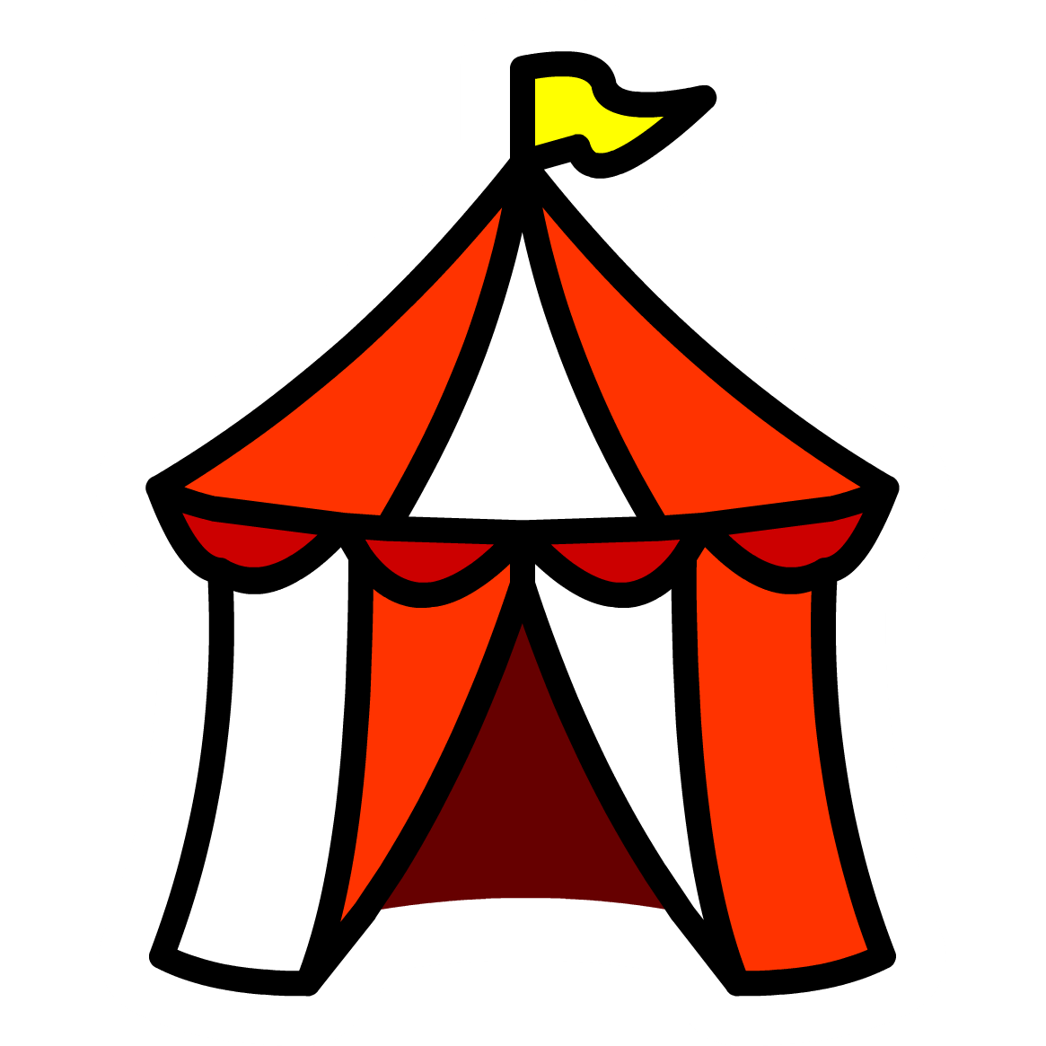 collection of tent. Competition clipart carnival