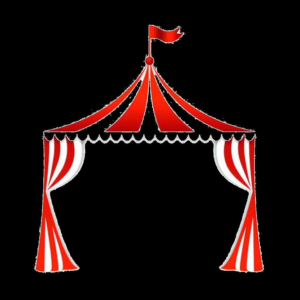 Clip art clown royalty. Carnival clipart tent