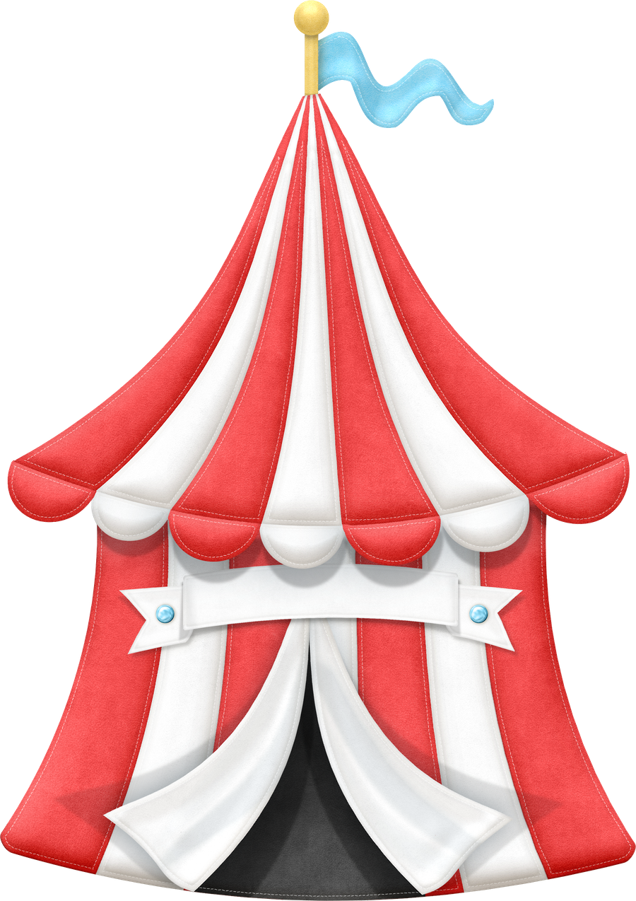 Carnival tent clip art. Number 1 clipart circus