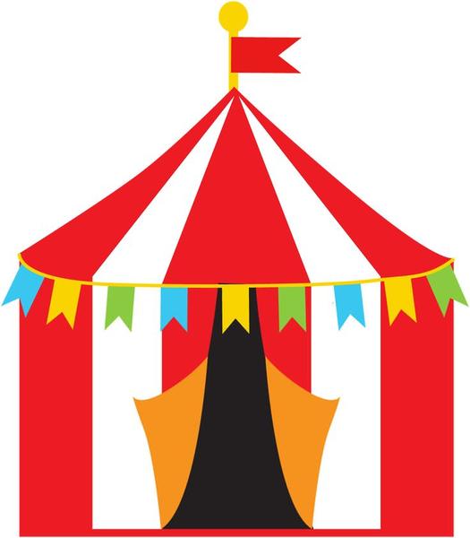 free hi. Carnival clipart tent