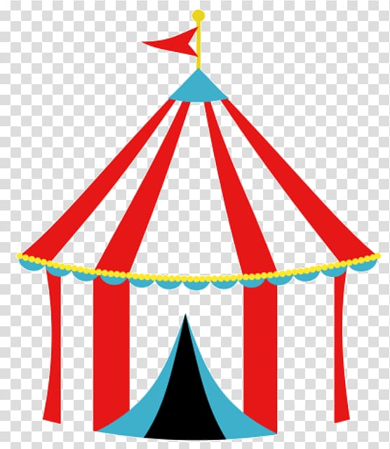 Red and blue circus. Carnival clipart transparent