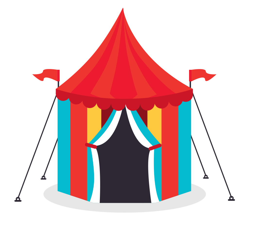 Carnival tent png best. Circus clipart stall
