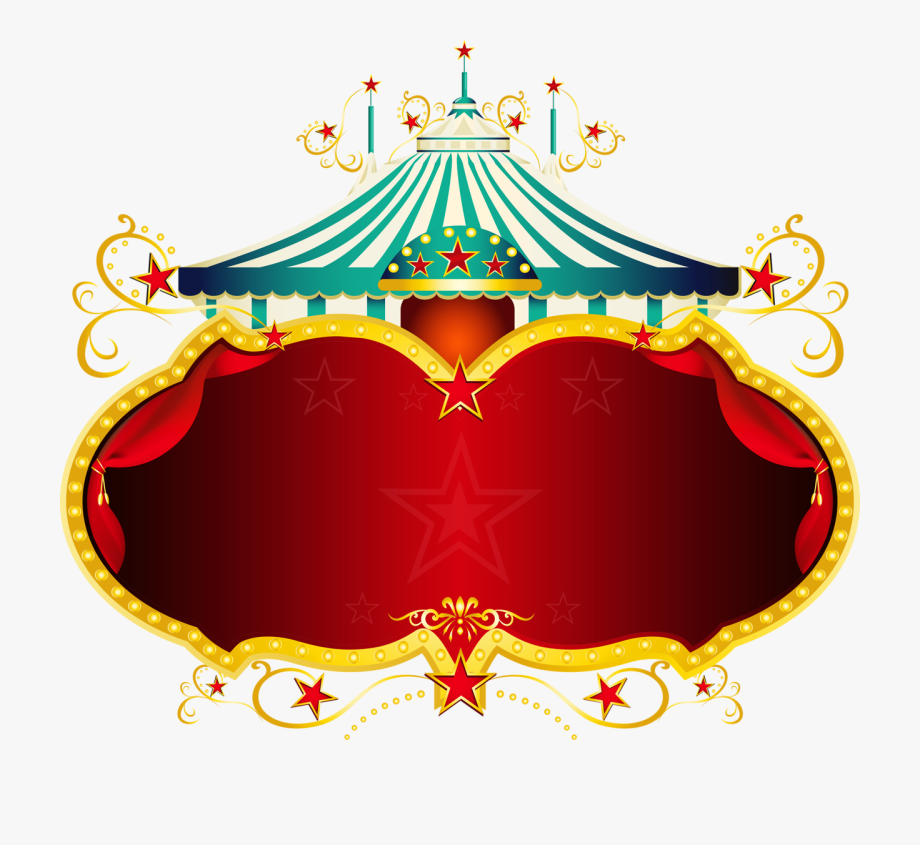 Frame background circus . Carnival clipart transparent