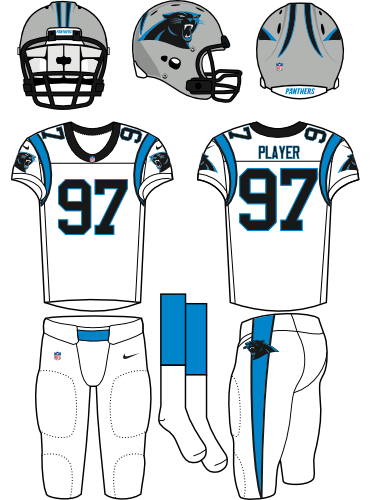 Carolina panthers helmet png. Road uniform national football