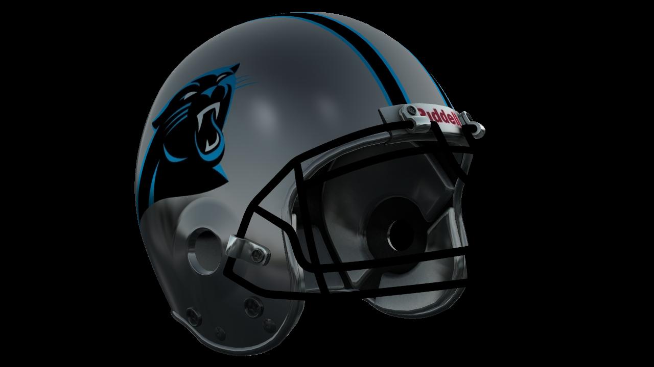 Halfmoon s nfl helmets. Carolina panthers helmet png