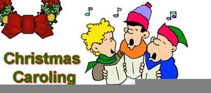 Children christmas free images. Caroling clipart