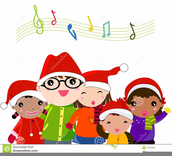 Kids free images at. Caroling clipart